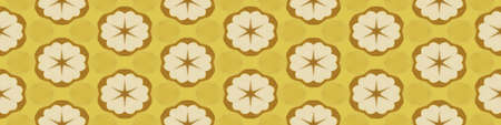 Cloth background with flowers pattern decoration, tileable seamless texture Stockfoto