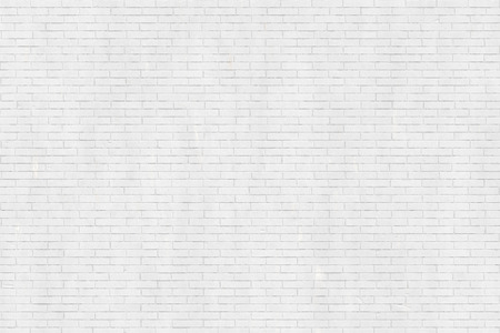 White brick wall texture, industrial style background, modern architecture detail Stockfoto
