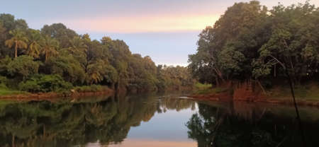 beautiful and clam meenachil river a view from kerala