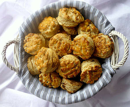 flaky: Flaky pastry in basket