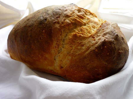 freshment: Homemade loaf of bread Stock Photo