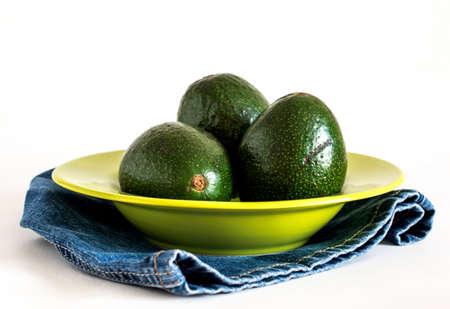 heathy diet: Avocados isolated Stock Photo