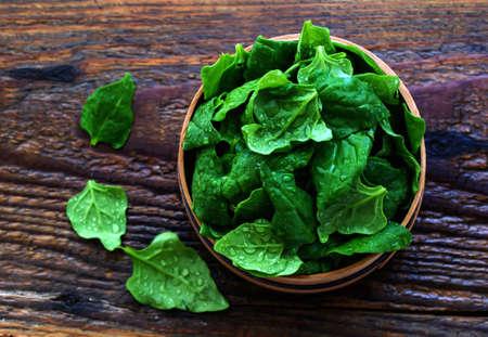 baby spinach: Baby spinach in sieve