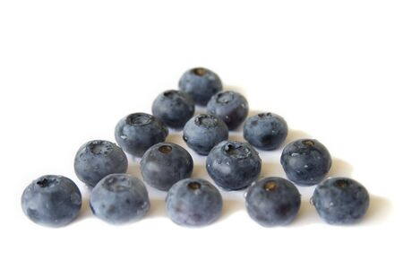 Blueberries in rows Stock Photo