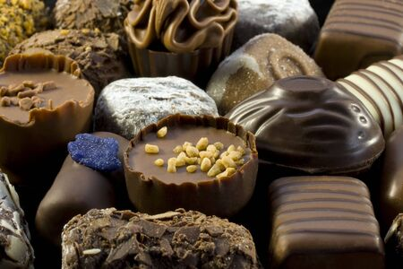 The variety of belgian chocolates