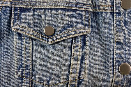 Blue denim detail with a pocket Stock Photo