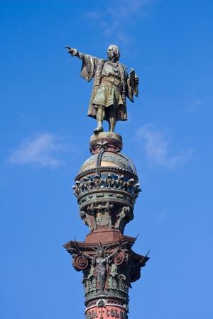 Column of Christopher Columbus in Barcelona photo