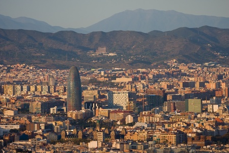 Panoramic view of Barcelona from Parc de Montjuic photo