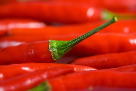 Chili peppers closeup