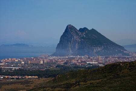 View to the Rock of Gibraltar photo