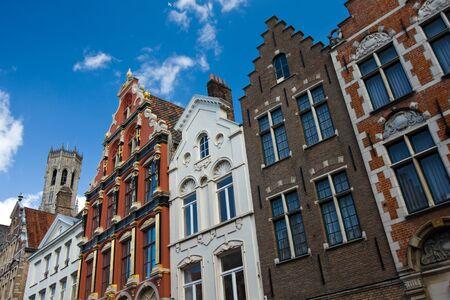 Houses facades in Brugge, Belgium Stock Photo - 17624188