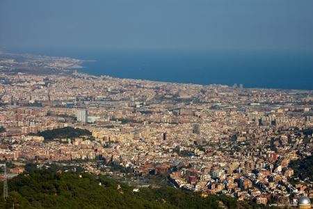 Panoramic view of Barcelona city.