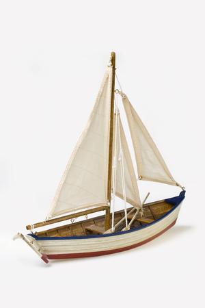 Schip model op een witte achtergrond Stockfoto