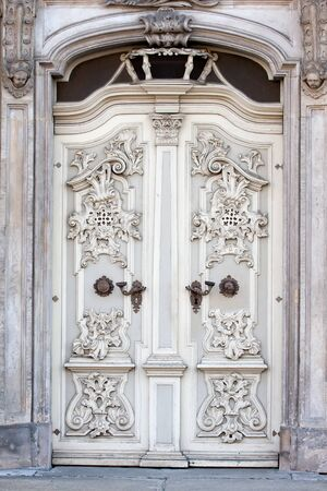 bass relief: Old decorative door, Wroclaw, Poland
