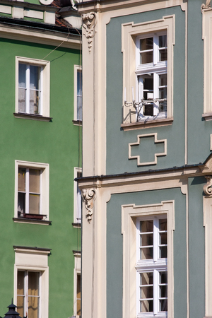 Buildings closeup in Market Square, Wroclaw, Poland 写真素材
