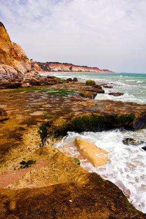 praia: Praia de Falesia, Portugal.