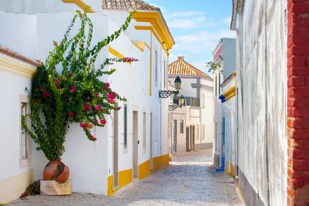 Street in Faro, Algarve, Portugal.