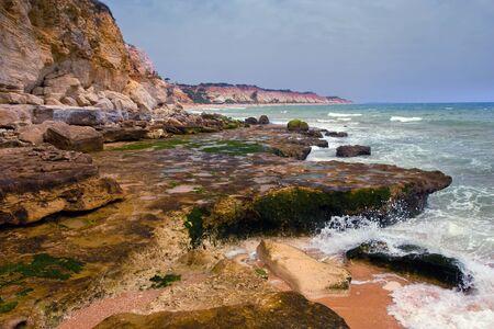 praia: Beach Praia de Falesia, Algarve, Portugal.