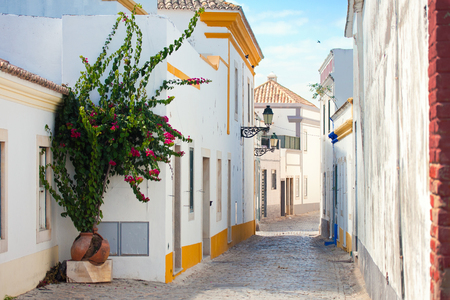 Street in Faro, Algarve, Portugal.