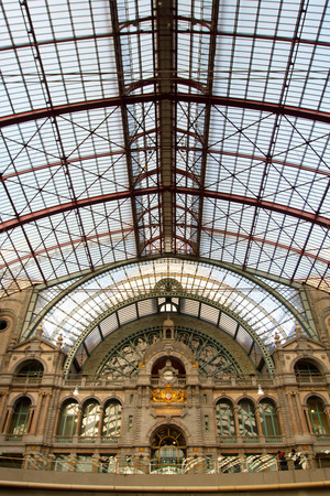 antwerp: Railwaz Central Station in Antwerp