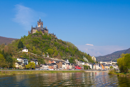 View to the town of Cochem, Germany.