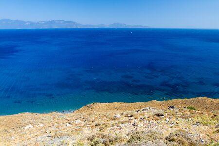 View to the coast in Kos, Greece. Stock Photo