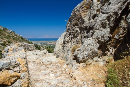 View from Dikeos hill, Kos, Greece.