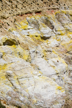 Closeup of a volcano cracked ground