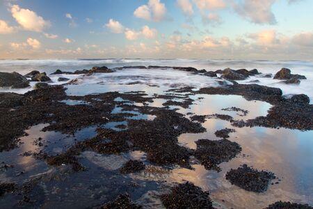 Sunset on a beach in Belgium Stock Photo