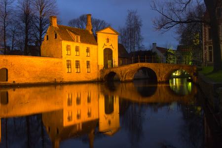 Night view in Brugge, Belgium