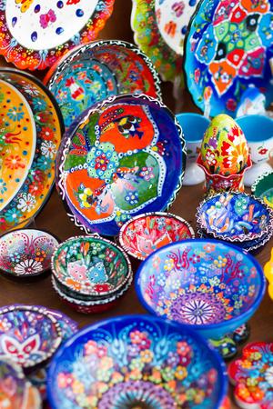 Closeup of greek ceramics in Kos.