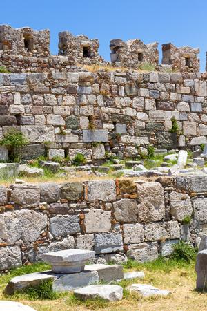 Old ruins of Neratzia, in Kos Town, Kos, Greece Stock Photo