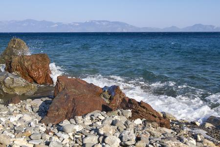 Beach in Kos Island, Greece. Stock Photo