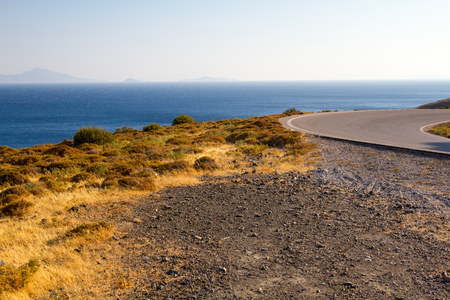 Shore in Kos Island, Greece. Stock Photo