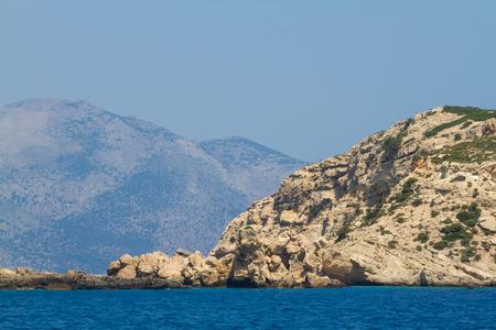 Rocks of small greek islands. Kos area. Stock Photo