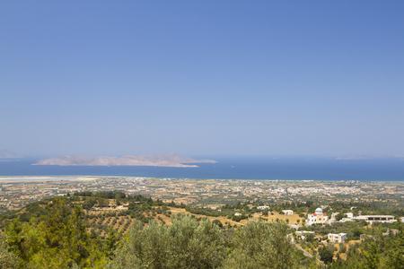 Landscape of Kos Island, Greece.