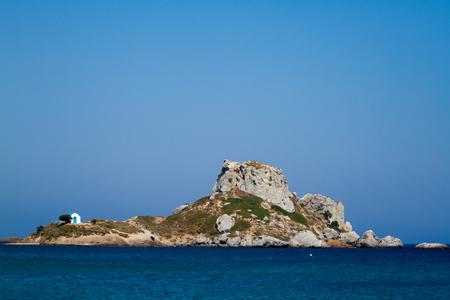 View this Kastril island, Kos, Greece. Stock Photo