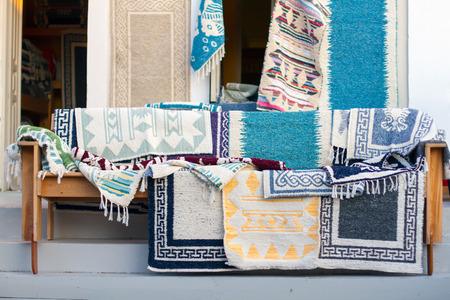 Greek handmade rugs in close up
