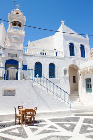 Church in Nicaea village at Nisyros, Greece.