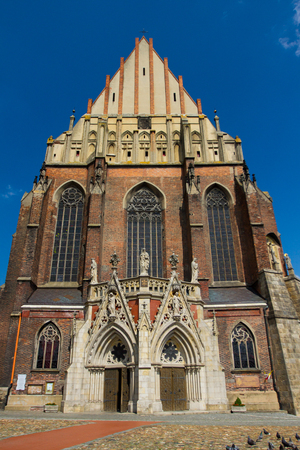 St Jackob`s bassilica in Nysa, Opole region, Poland