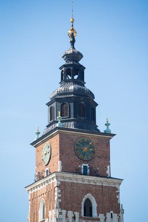 Tower Mariacki church in Krakow, Poland. Zdjęcie Seryjne