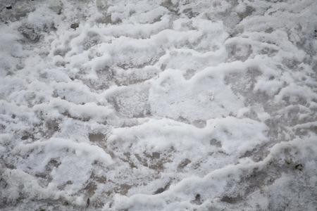 Closeup of a frozen creek