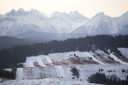 Winter view in Podhale, Poland Zdjęcie Seryjne
