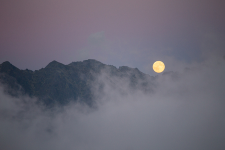 Moon over the mountains, Tatry, Poland