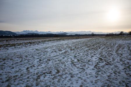 Podhale in Poland, in winter