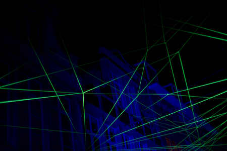 Abstract background with laser light