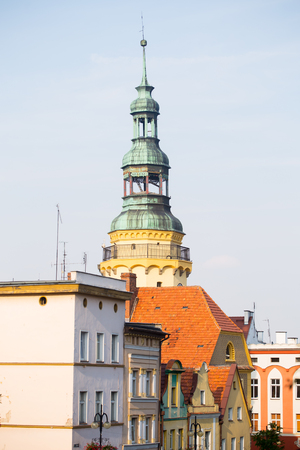 Town hall tower, Otmuchow in Opole, Poland