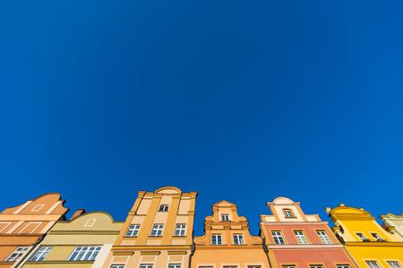 Buildings at Jelenia Gora main square, Poland Zdjęcie Seryjne