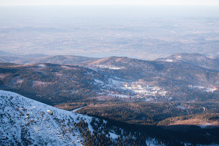 View to Karkonosze in Poland
