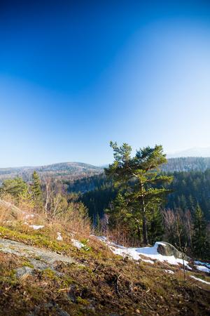 Karkonosze in Poland, in winter.